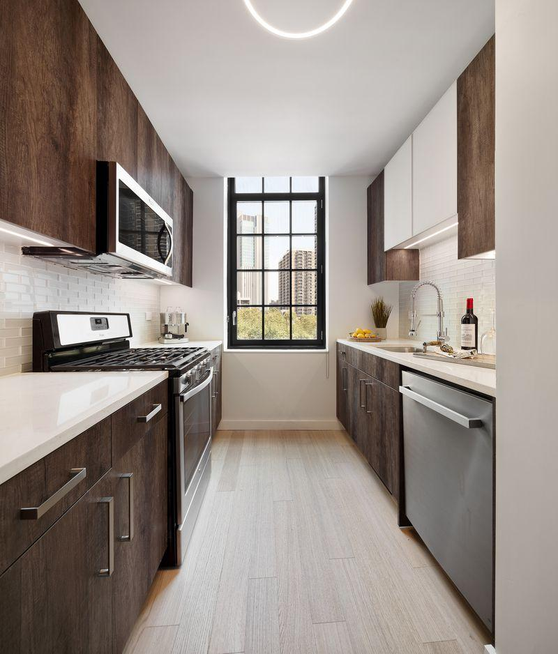 Apartments for rent at 60 Fulton Street in Manhattan - Kitchen