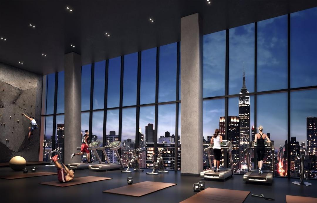 Fitness Center at American Copper Buildings in NYC