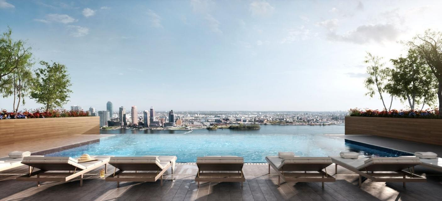 Rentals at American Copper Buildings in Manhattan - Rooftop Infinity Pool