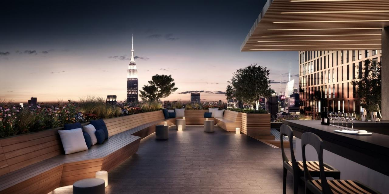 Rooftop Terrace at 626 First Avenue in Manhattan