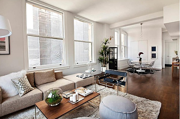 640 Noho Livingroom - Luxury Apartments for rent in Noho, NYC