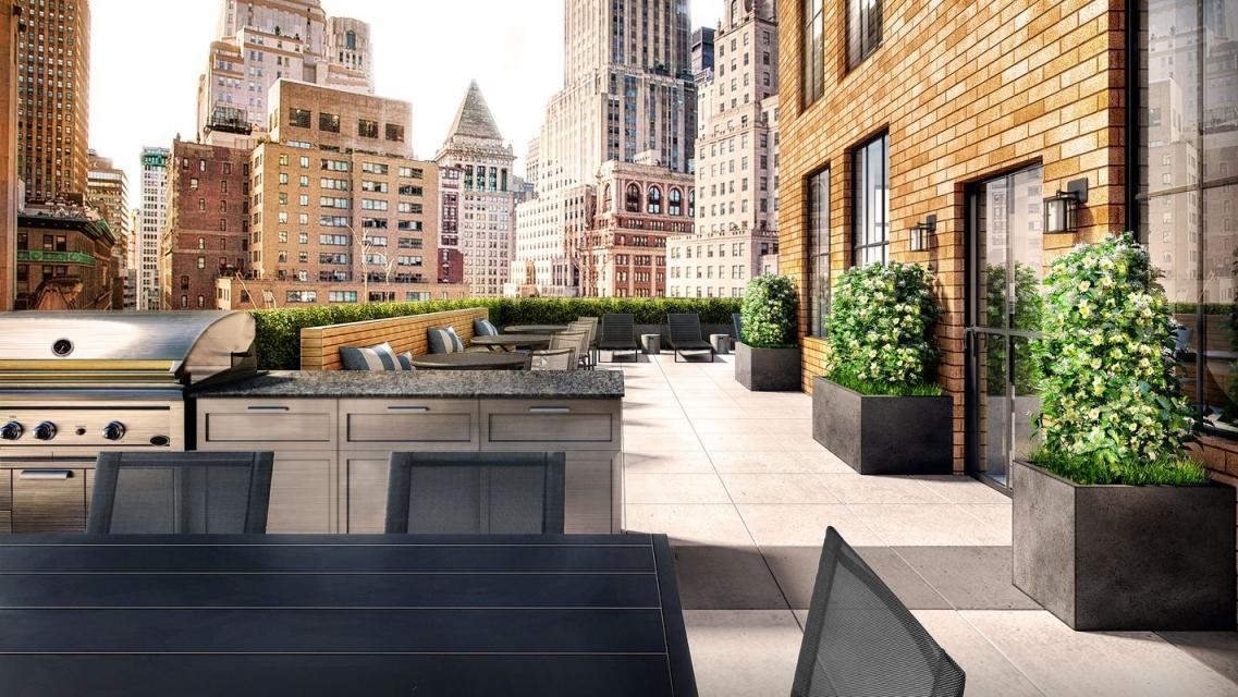 Rooftop Deck at 67 Wall Street - NYC Apartments for rent