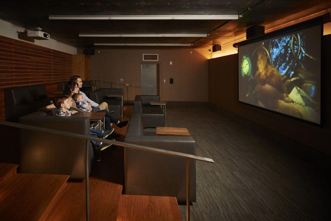 Cinema room at  70 Pine Street in NYC - Apartments for rent