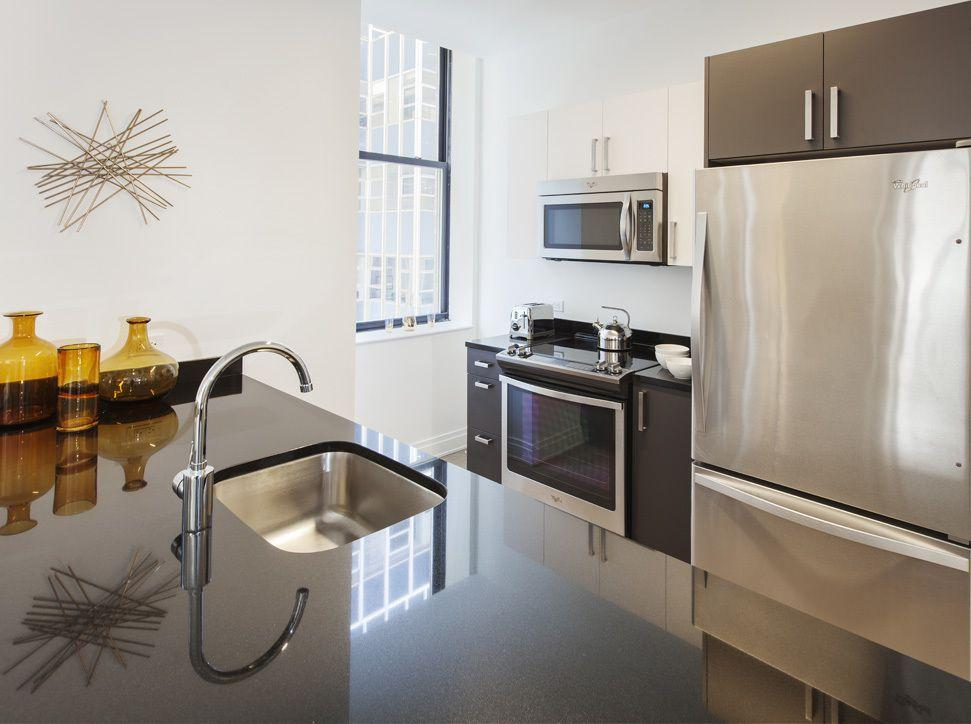 Kitchen at 70 Pine Street in Financial District - Apartments for rent