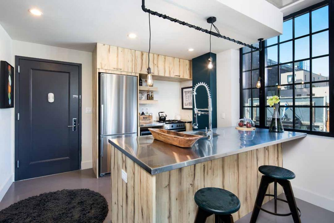 Open Kitchen at 72 Box Street in Greenpoint - Apartments for rent