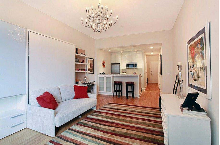 75 Clinton Street Living Room, Brooklyn Heights Apartments