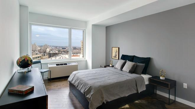 Bedroom at 70 Fleet in NYC - Apartments for rent