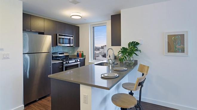 Open Kitchen at 70 Fleet - Condos for rent