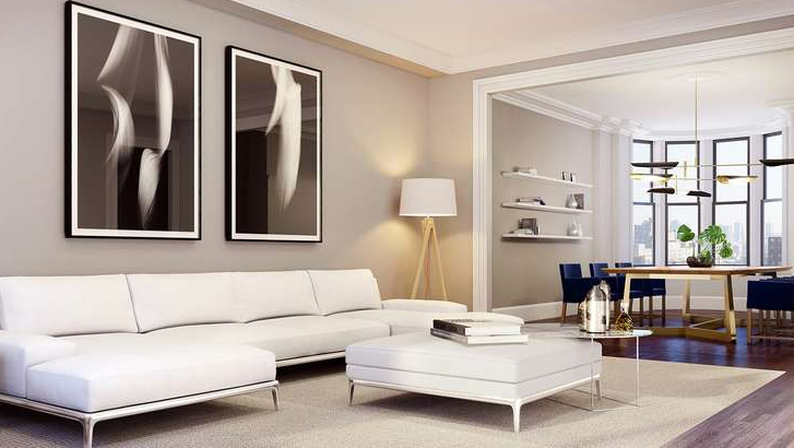 Livingroom at 838 West End Avenue in NYC - Condos for rent