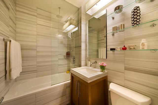 Bathroom-88 Greenwich Street- condo for rent in NYC