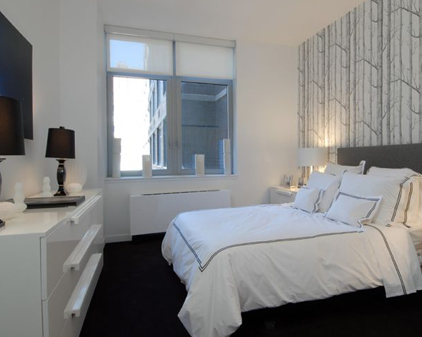 Bedroom at 88 Leonard Street in Manhattan - Apartments for rent