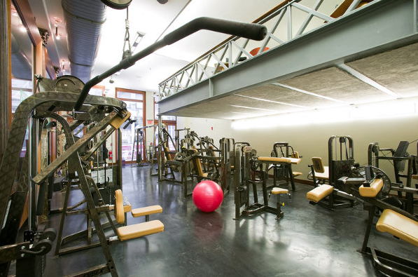 Fitness Center inside the building at 88 Leonard Street in Tribeca