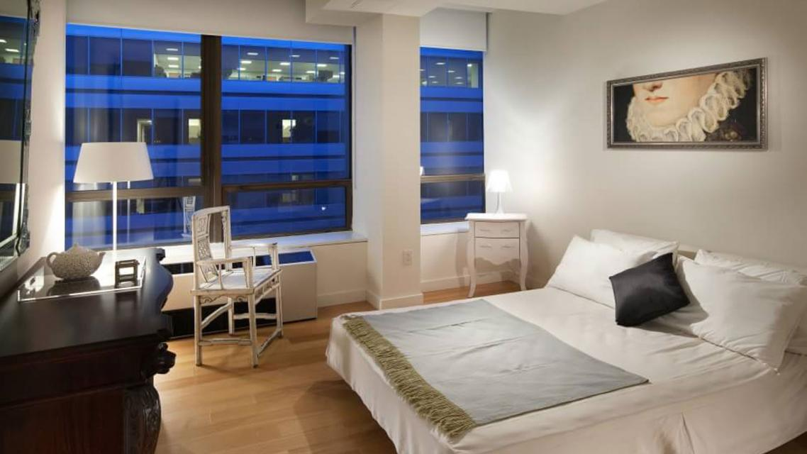 Bedroom at Dwell 95 Wall Street Manhattan