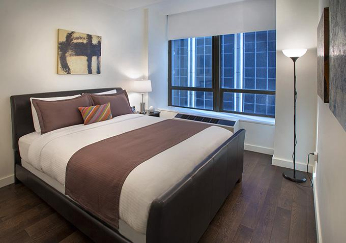 Bedroom of  rental apartments at 95 Wall Street