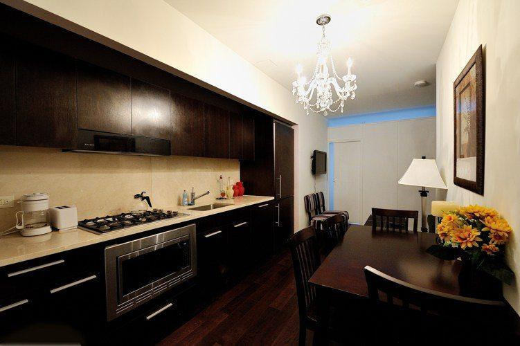 Kitchen Area of Rental Apartments at Dwell 95