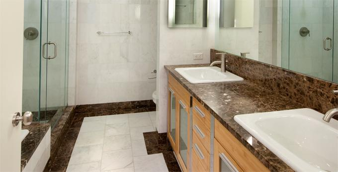 Bathroom of rental apartments at 10 Hanover Square