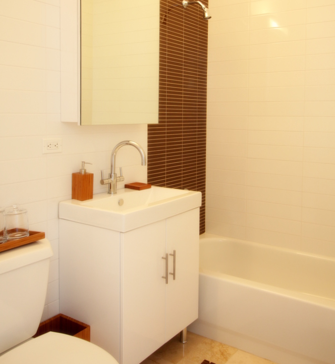Bathroom of rental apartments at 20 Exchange Place