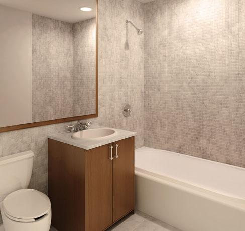 37 Wall Street Bathroom - Manhattan Rental Apartments