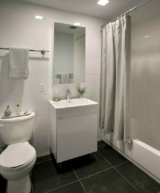 Bathroom at 41-18 Crescent Street - LIC Rentals