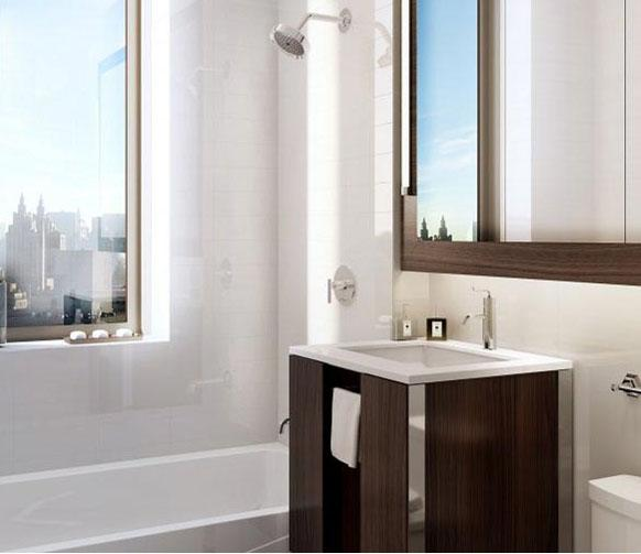 801 Amsterdam Bathroom - NYC Rental Apartments