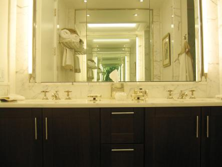 Bathroom of rental apartments at One Beacon Court