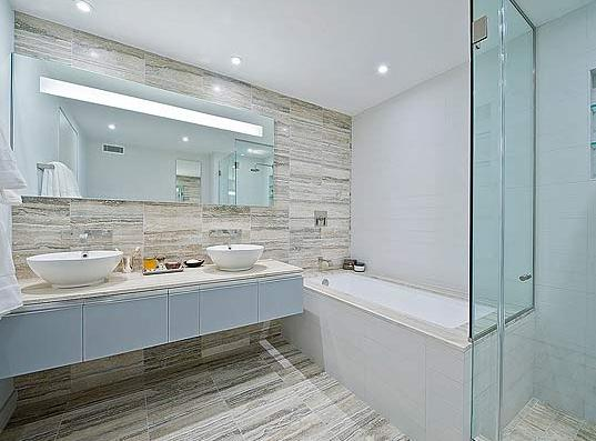 Bathroom at Sheffield 57 322 West 57th Street Manhattan Apartments for rent
