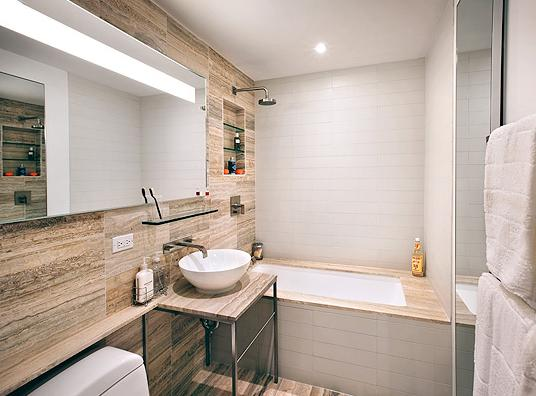 Bathroom at The Sheffield 322 West 57th Street NYC Flats