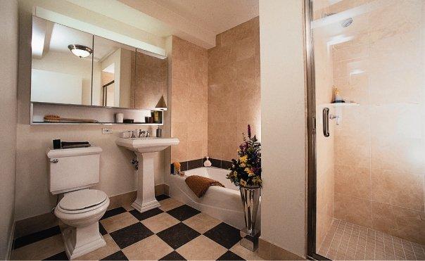 Rental Apartments at 20 River Terrace Bathroom