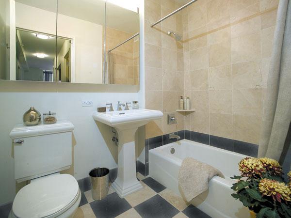 211 North End Avenue Bathroom - NYC Rental Apartments