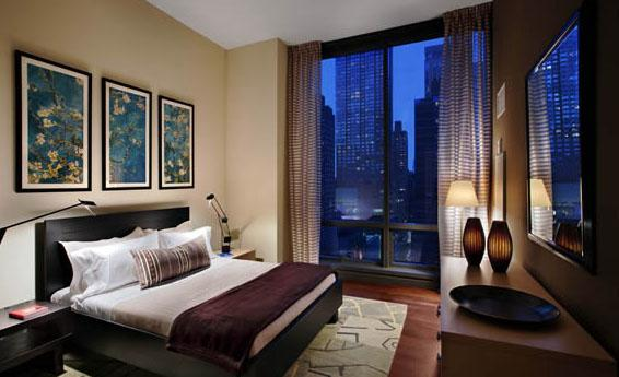 Bedroom at AIRE 200 West 67th Street Manhattan Apartments for rent
