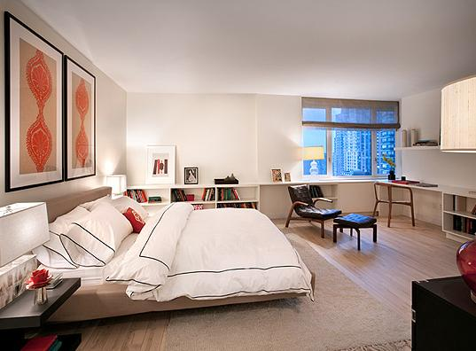 Bedroom at The Sheffield 322 West 57th Street New York
