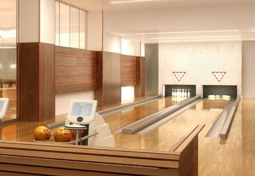 The Ashley rental building Bowling Room – NYC Flats