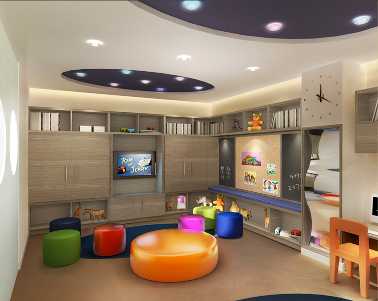 Childrens Play Area with Flat screen TV