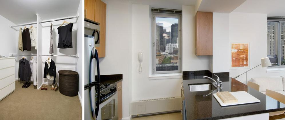 Rental apartments at 510 West 52nd closet