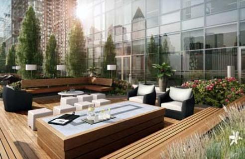 MiMA rental building Deck - NYC Flats