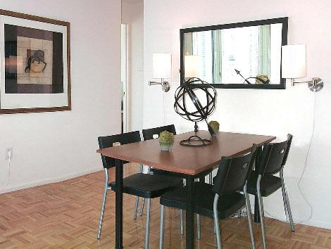 Dining Area of NYC Rental Apartments at  River Place