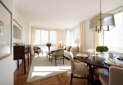 Dining Area of NYC Rental Apartments at 400 West 63rd Street