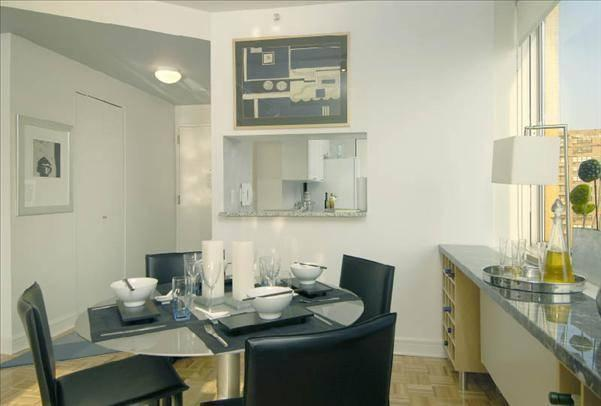 Rental Apartments at 160 Riverside Boulevard Dining Area