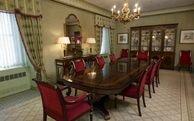 Dining Room at The Waldorf Towers 100 East 50th Street NYC