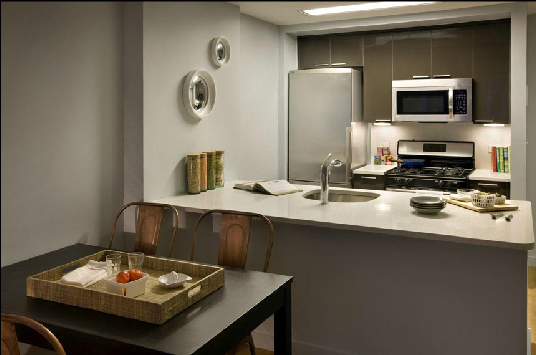 Dining Area and Kitchen of Packard Square North - Long Island City Rentals