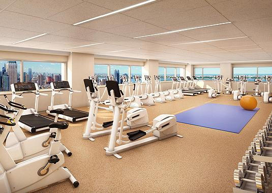 322 West 57th Street Fitness Center - NYC Rental Apartments