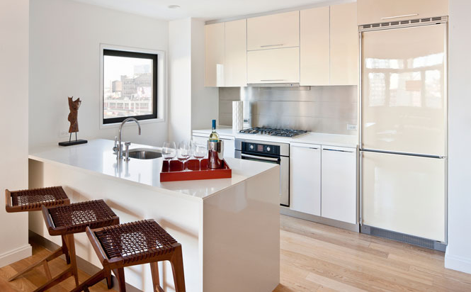Kitchen of L haus - LIC Rental Apartments