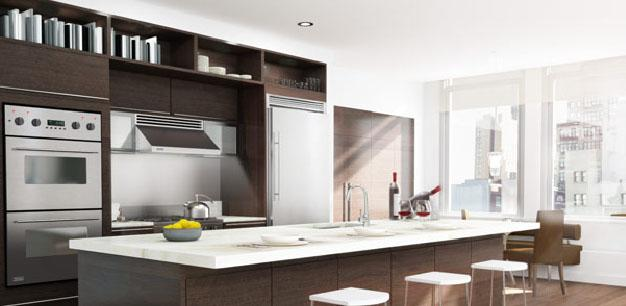 34 Leonard Street Kitchen - NYC Rental Apartments
