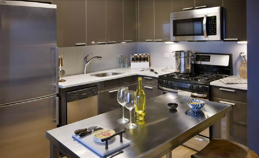 Kitchen of Packard Square North - Long Island City Rental Apartments