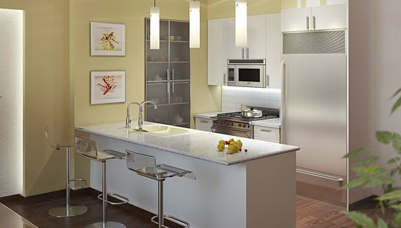 Kitchen of Fusion Condominium - LIC Rental Apartments