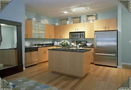 Kitchen of Rental Apartments at 90 West Street