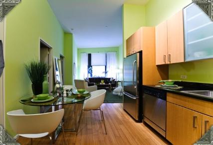 Rental Apartments at 90 West Street Kitchen
