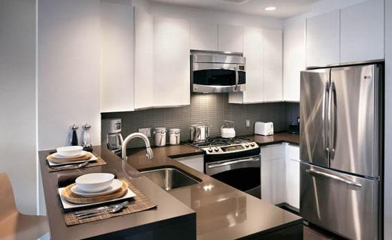 Kitchen at AIRE 200 West 67th Street Manhattan