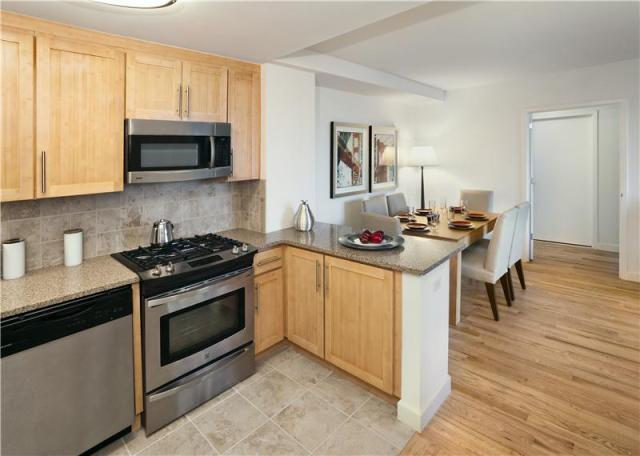 Tapestry rental building Kitchen – NYC Flats