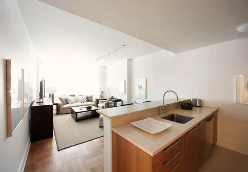 Kitchen at the Ashley 400 West 63rd Street Manhattan Apartments for rent